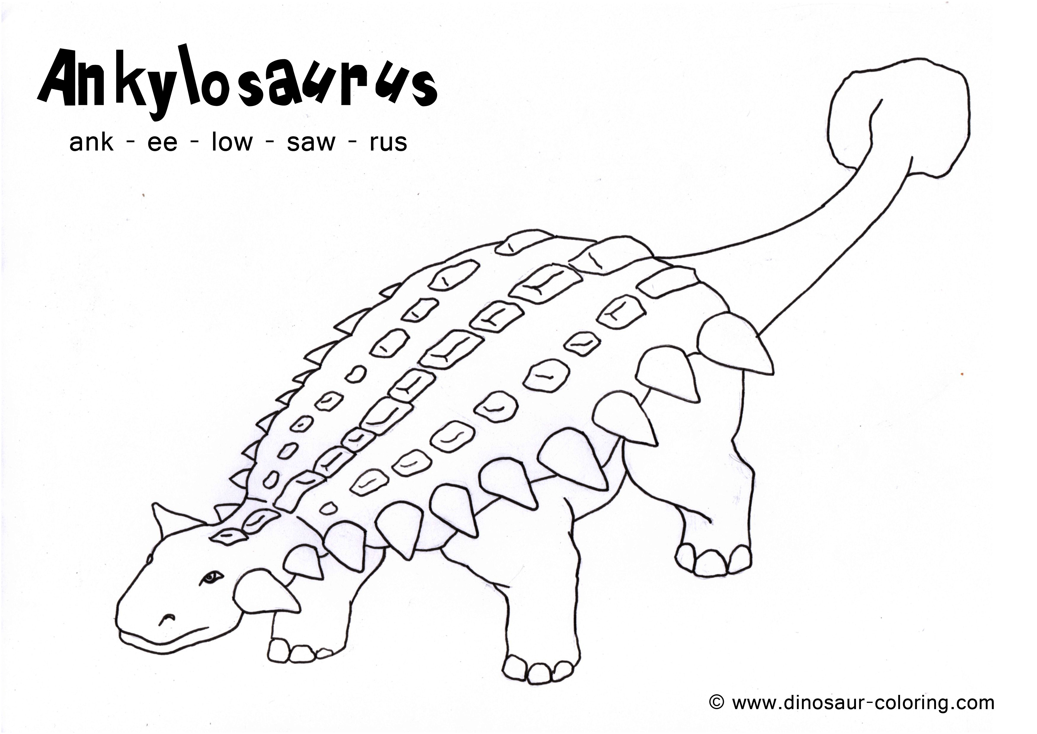 ankylosaurus coloring - Dinosaur Coloring Pages Realistic
