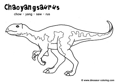 dinosaur coloring pages with names - photo#3