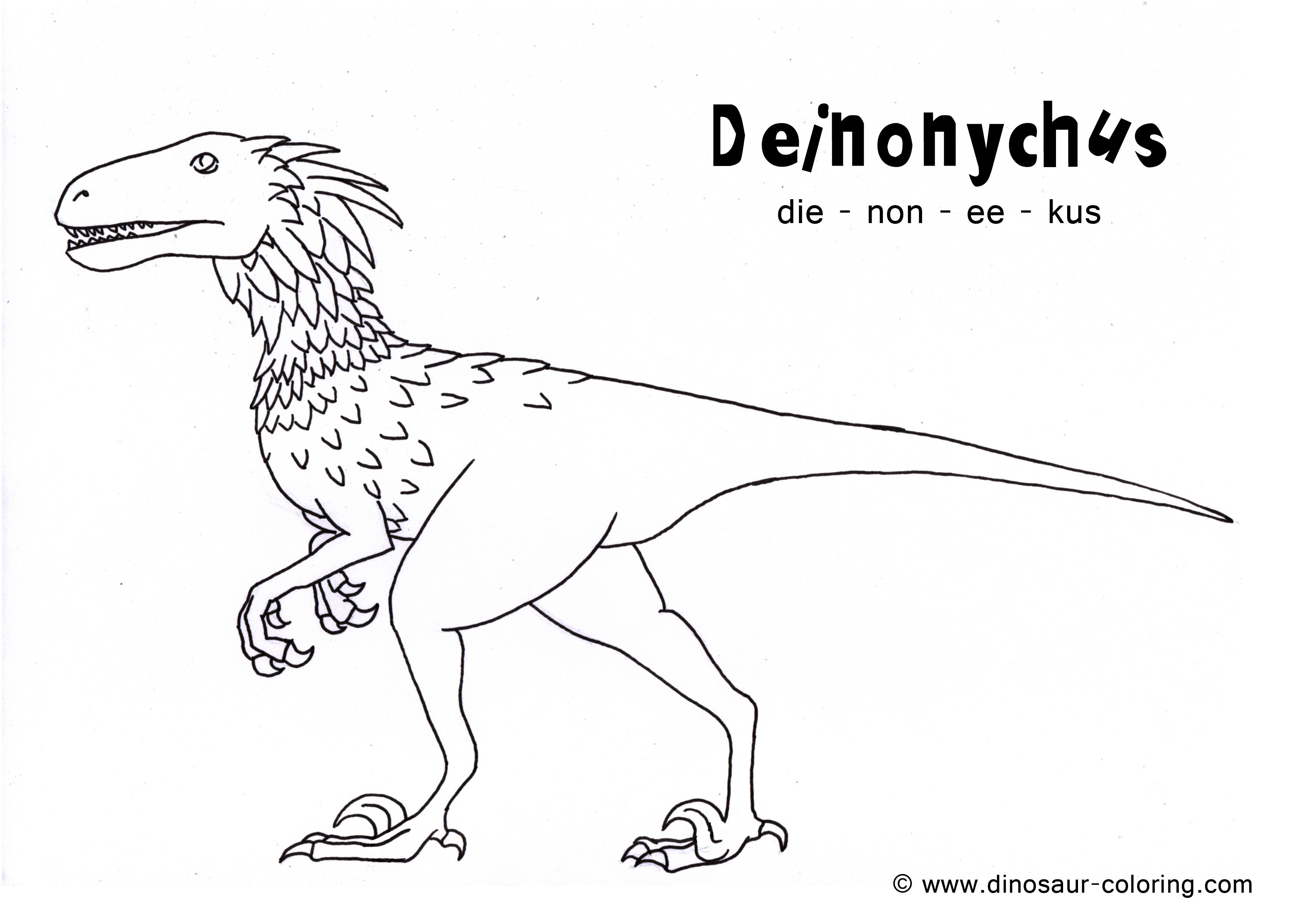 deinonychus coloring pages - photo#11