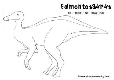 Hadrosaur Page Coloring Pages