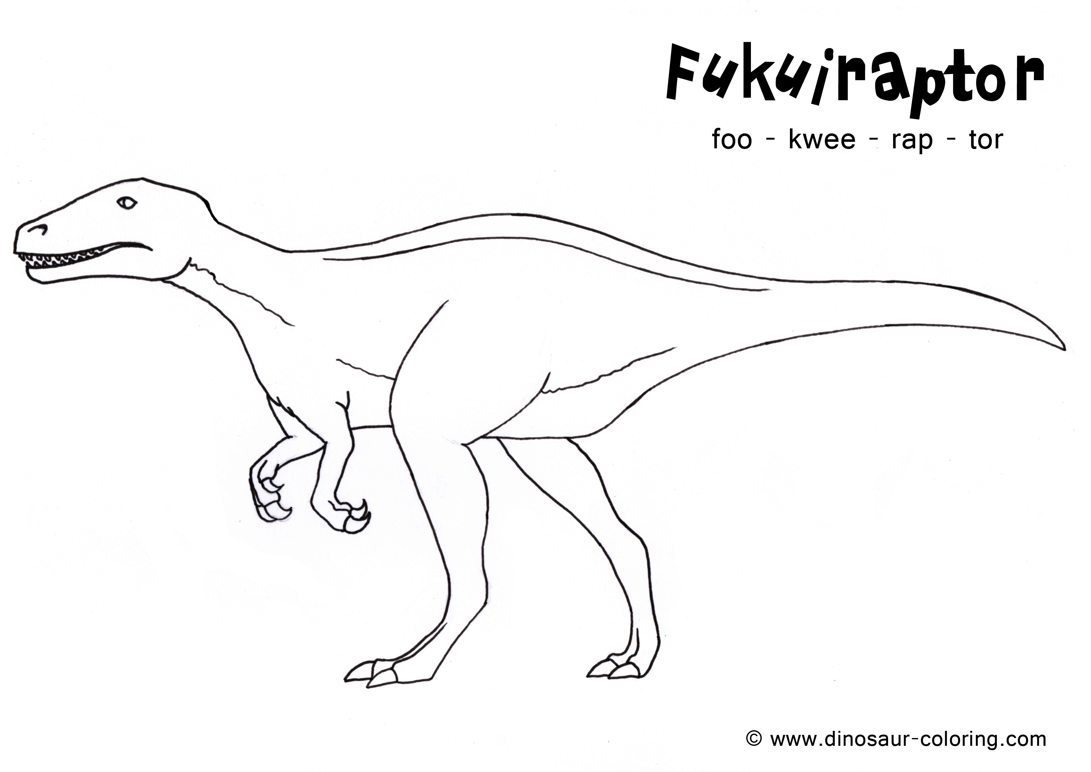 dinosaur coloring pages velociraptor sounds - photo#13