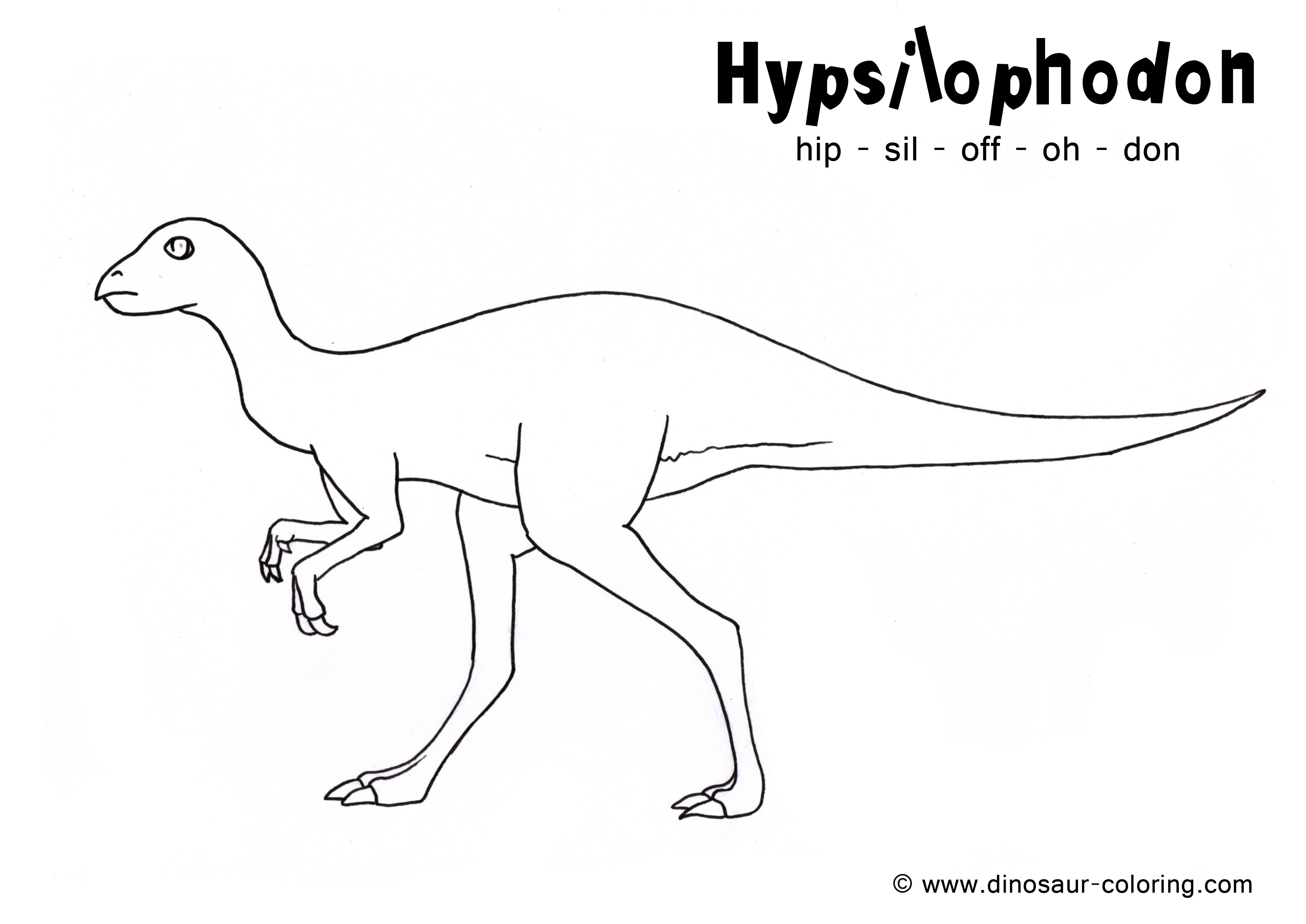 Free Dinosaur Tracing Coloring Pages