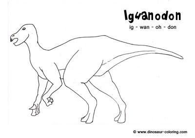 Iguanodon coloring for Iguanodon coloring page