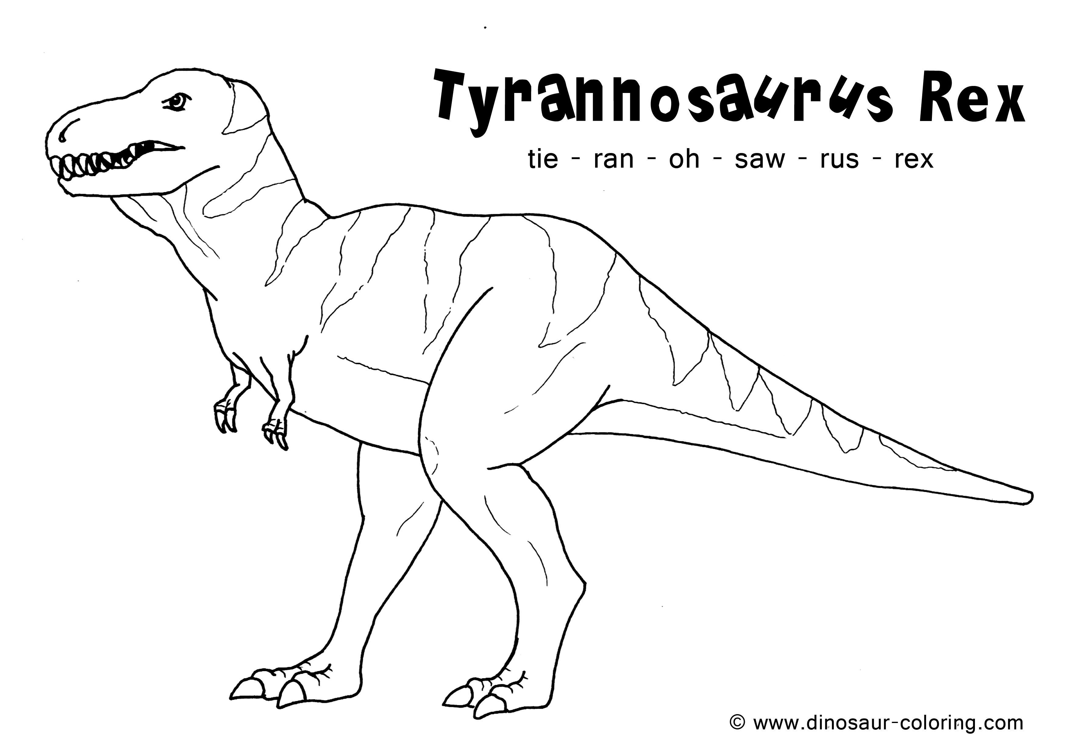 t rex coloring pages for kids - photo #7